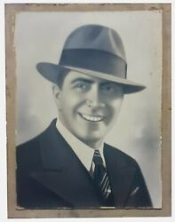 Carlos Gardel Stunning Pastel / Crayon Unsigned Painting 15´´ X 11´´ Excellent