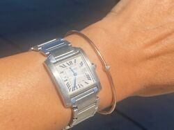 Authentic Tank Francaise Stainless Steel Medium Watch 2465