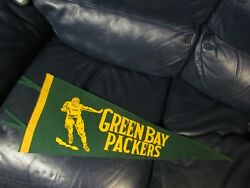 Vintage Green Bay Packers Full Sized Pennant Rare