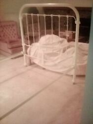 Antique Ornate Cast Iron Full-size Bed Frame