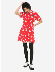 Disney Her Universe Minnie Mouse Red Bow Print Dress Cosplay Womens Juniors Xl