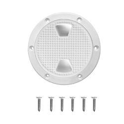 Marine Boat Polar White 8 Access Port Hatch Cover Twist Out Deck Plates