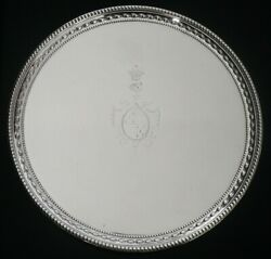 Antique Silver Salver, 5th Earl Of Chesterfield Coat Of Arms John Schofield 1777