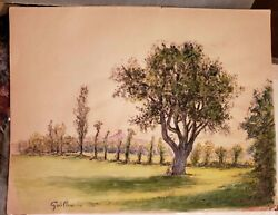 Original 1920 Armand Guillaumin 6 Pastel Paintings Book Signed Dated 1920