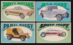 1970 O-pee-chee Way Out Wheels George Barris -lot Of 4 Diff 11, 20, 21, 31