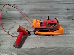 Vintage Cragstan Bulldozer Tin Battery Operated Toy Not Working As Is