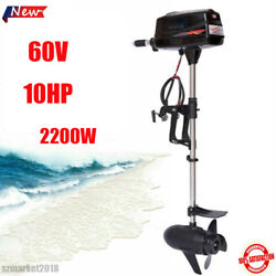 10hp 2200w Electric Outboard Trolling Motor Brushless Boat Engine Tiller Control