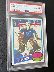 1980-81 O-pee-chee Opc 31 Mike Liut Rookie Rc Card Psa 8 - Awesome Card