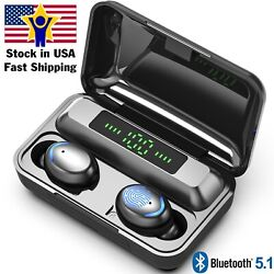 Bluetooth Earbuds for iphone Samsung Android Wireless Earphone IPX7 Waterproof $19.99
