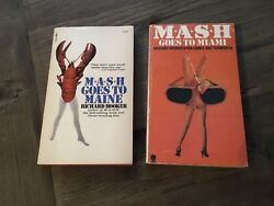 Mash Goes To Maine / Goes To Miami Vintage 1970s Novels By Richard Hooker