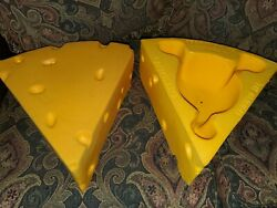 Pair Of Foamation The Original Green Bay Packers Foam Cheese Head Hats - 1987