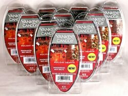 NEW YANKEE CANDLE HOLIDAY HEARTH FRAGRANCED WAX MELTS 2.6 OZ. LOT OF 10 PACKAGES