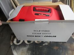 New Budweiser Beer Rock Box Cooler Carry All W Radio Bottle Cans Game Room