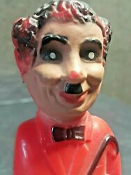 Vintage Charlie Chaplin Toy Italy 1960 Pull String Fabric Plastic For Parts