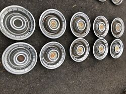 1940s - 1950s Cadillac Hubcaps X 10