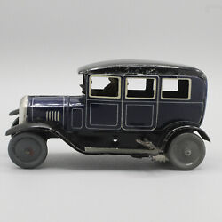Vintage Bing Tin Wind Up Car Late 1920's With Lady Driver