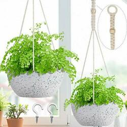 2 Pack Hanging Planters For Indoor Outdoor Plants 8 Inch Hanging Pots For