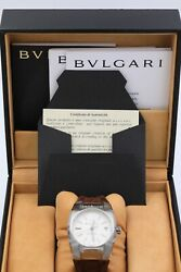 Bulgari Ergon Eg35s Automatic 35mm Stainless Steel And Leather Watch