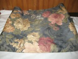Vintage Upholstery Fabric Floral Cabbage Roses 2 3 8 Yards 60quot; Wide