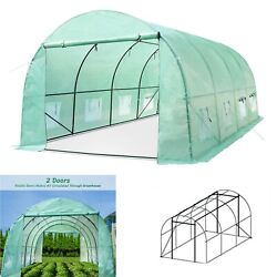 Large Walk-in Greenhouse 20x10x7ft Hot Green House Plant Gardening Steel Frame