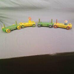 Vintage Hog A Wooden Pull Toys Cars And Figurines