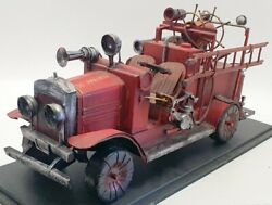 Unbranded 39cm Long Tin Fire Truck Ub0903 - So Ppaire Fire Dept Truck