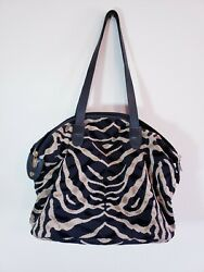 Gevive By Boyt Purse Tapestry Tote Large Tan Black L