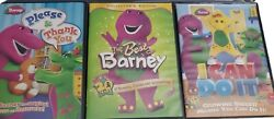 Barney And Friends Dvd Lot Of 3 The Best Of Please Thank You Manners I Can Do It