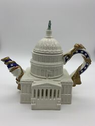 Vintage 1994 Fitz And Floyd Limited Edition U.s. Capitol Building Teapot