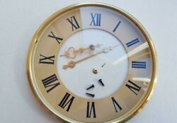 Clock Vintage Dial For Table Clock Spring, + Mounting Frame, Glass, Hands. A1.2