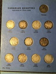 60 Silver Canadian Quarter Collection Rare Low Mintage Coins Plus Extra
