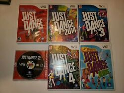 Just Dance, 2,3,4, 2014 And Just Dance Kids Wii Game Lot
