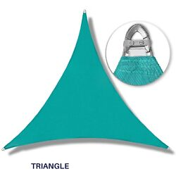 Turquoise Triangle 16-48ft Heavy Duty Steel Wire Shade Sail Patio Pool W/8 Kit