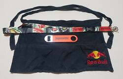 Red Bull Waitress Apron With Jägermeister Bottle Wrench And Lanyard - Very Nice