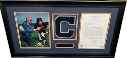 George Halas Autographed Letter Framed W Photo Papa Bear Chicago Bears