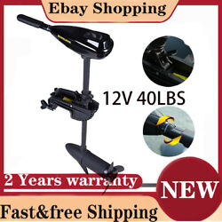 12v 40lbs Trolling Motor Outboard Engine Rubber Fishing Boat Electric Big Power