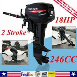 18hp 2 Stroke Outboard Motor Boat Engine Water Cooling Cdi Short Shaft 40cm New
