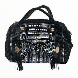 Julia amp; Michael Black Purse Julia and Michael Bag Classic Bling With Tassels $20.00