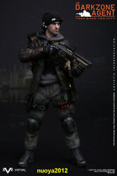 Vts Toys 16 Vm-017 Darkzone Agent Soldier 12inch Male Action Figure Collectible