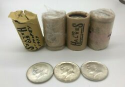 4 Rolls Of 1964 Kennedy Half Dollars - Bu - Roll Of 20 Coins - 10 Fv 90 Silv
