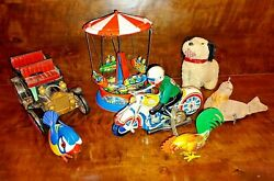 Vintage Toy Collection German And Japanese Wind-up And Tin Toys Lehmann Köhler Alps