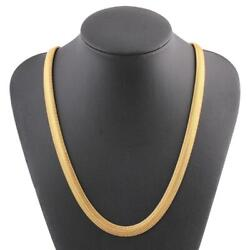 Gold Necklace Man Women Bone Snake Chain Jewelry Pendant Ornaments Gifts @