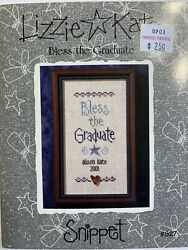 lizzie kate cross stitch patterns Bless The Graduate Snippet S27 $3.00