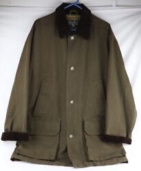 Eddie Bauer Mens Kettle Mountain Stormshed Waxed Cotton Jacket Mens Medium Tall