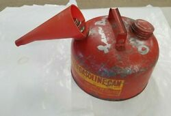 Eagle Galvanized Gas Can Model 502 2 1/2 Gallon Gasoline Can With Funnel Spout