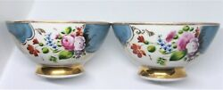 Antique Pair Of Imperial Russian ' Kuznetsov ' Porcelain Bowls. 19th. Century .