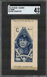 1911 S74 Silks - Colored Old Mill Cy Young Sgc 4 Vg-ex Hof Rare
