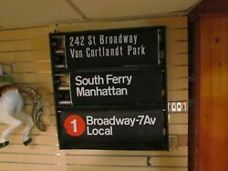 Nyc Subway Roll Sign Shea Stadium Time Square South Ferry More