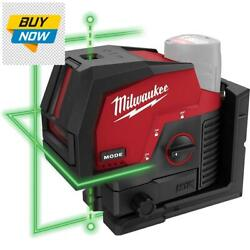 M12 12-volt Lithium-ion Cordless Green 125 Ft. Cross Line And Plumb Points Laser