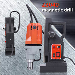 1100w Md40 Magnetic Drill Press 40mm Boring Depth 2700 Lbs Magnet Force